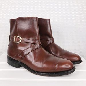 Allen Edmonds St. George Boots Brown Leather 7E